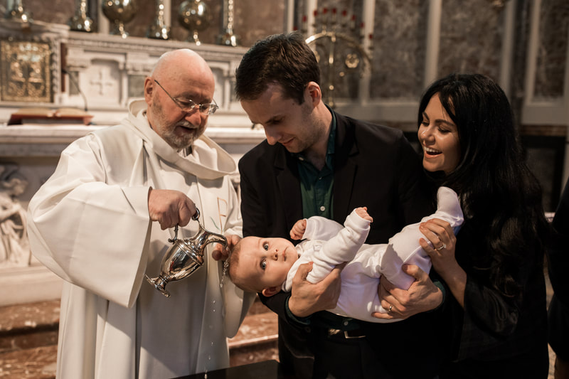 Christening, Baptism photography service in Dublin. Photographer BubblyDot